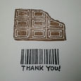 板チョコとバーコード